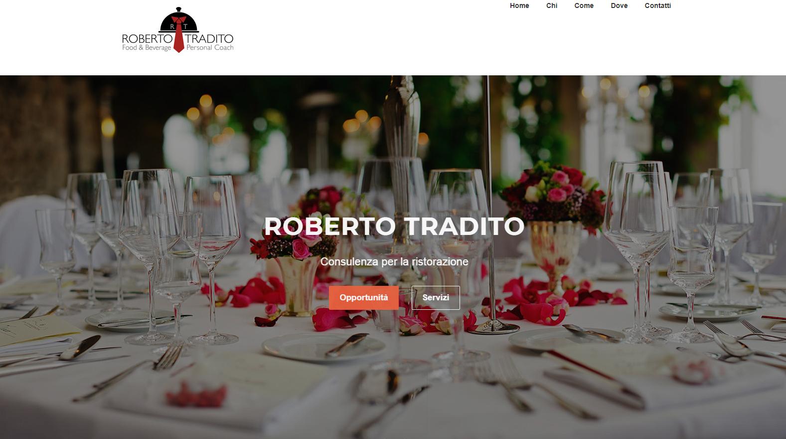 Roberto Tradito, consulente per la ristorazione